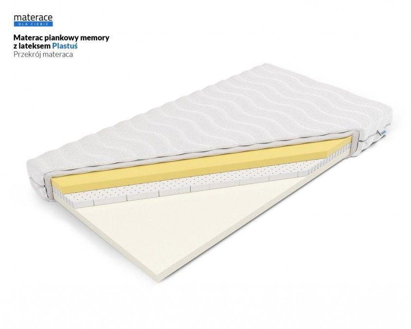 Materac piankowy memory z lateksem Plastuś Materace Dla Ciebie 70 x 160*