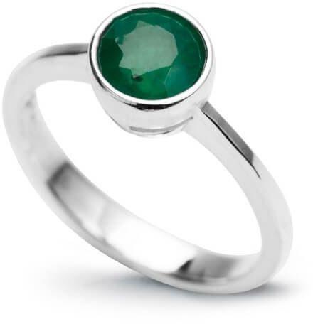 Srebrny pierścionek - Szmaragd