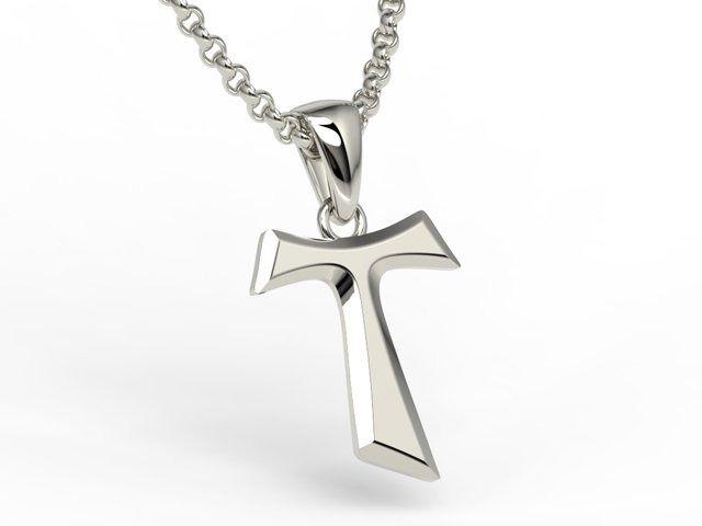 Franciszkański krzyż tau ze srebra - kr-s-6