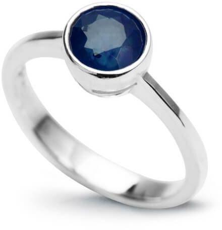 Srebrny pierścionek - Szafir
