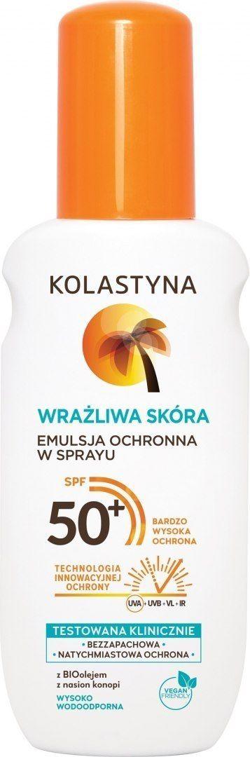KOLASTYNA OPALANIE Kolastyna Opalanie Emulsja ochronna do opalania w sprayu SPF50+ 150ml