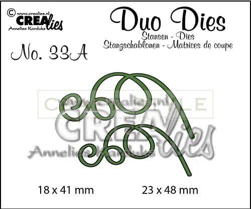 Wykrojnik CreaLies - Duo Dies no. 33A Leaves 3 mirror image