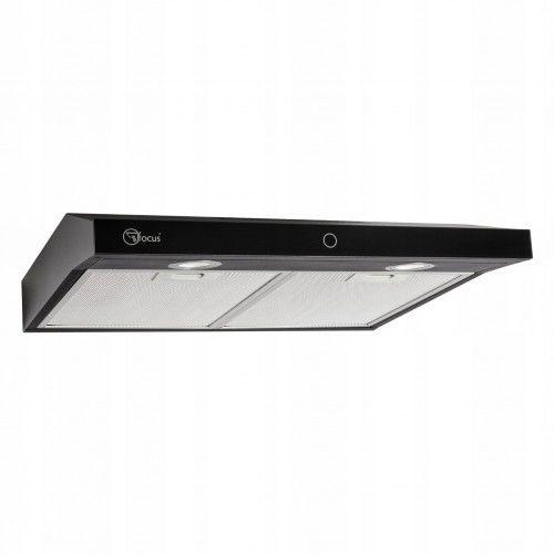Okap/Pochłaniacz 50cm CZARNY kuchenny Modo Slim- Panel dotykowy podszafkowy