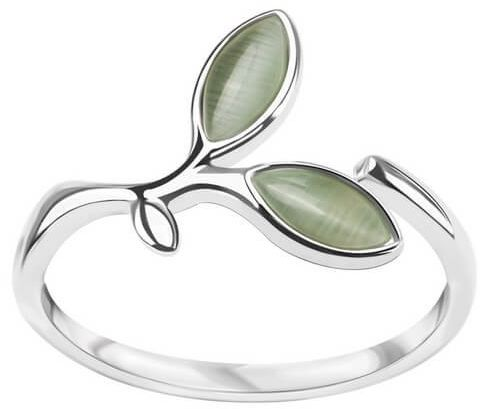 Srebrny pierścionek PDS5630 - Szkło