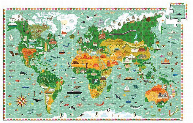 """""""Budowle świata"""" - puzzle dla dzieci, 200 el., DJ07412-Djeco - zabawki z tektury, zabawki edukacyjne"""