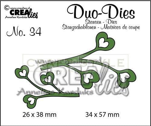 Wykrojnik CreaLies - Duo Dies no. 34 Leaves 4