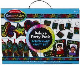 Melissa & Doug 42045 Deluxe Party Favour Sztuka i rzemiosło Scratch Art 4+ Prezent dla chłopców lub dziewcząt
