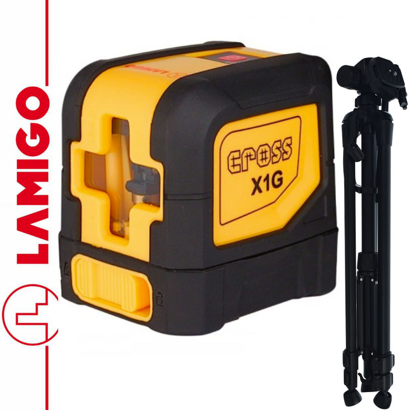Laser liniowy, zielona CROSS X1G LAMIGO + Statyw 1,4m