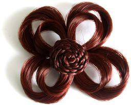 Love Hair Extensions Kwiat na zacisku krokodylkowym kolor 34  ciepła miedź, 1 opakowanie (1 x 1 sztuka)
