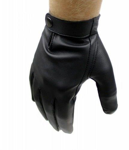 Męskie rękawiczki nieocieplane - wygodny model z zapięciem