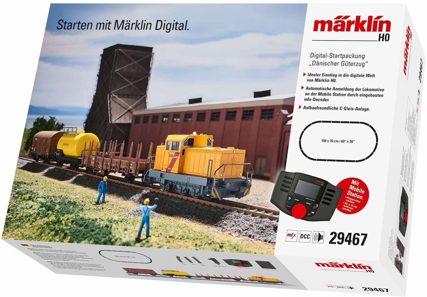 zestaw; pociąg; model; games; ślad; kolejki; startowy; toys; towarowy; 29467; marklin; tor; h0; duńskie; and; märklin; modelowania