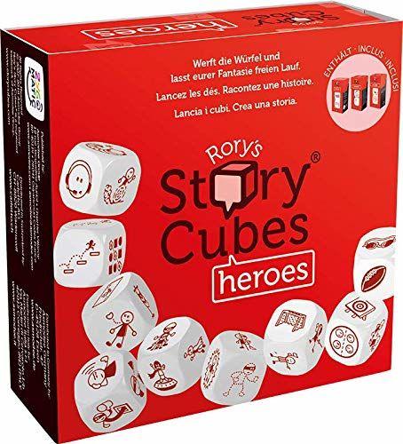 Asmodee Italia- Rory''s Story Cubes Heroes gra stołowa dla historii, Color, 8087