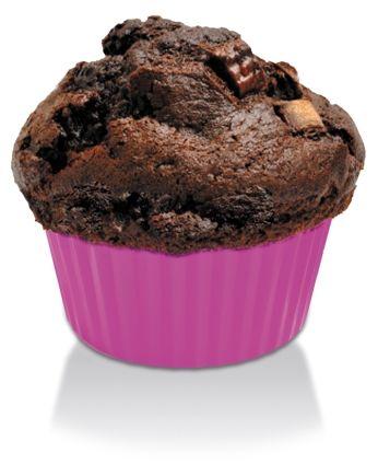 Silikonowe foremki do dużych muffinek (4 w opakowaniu)