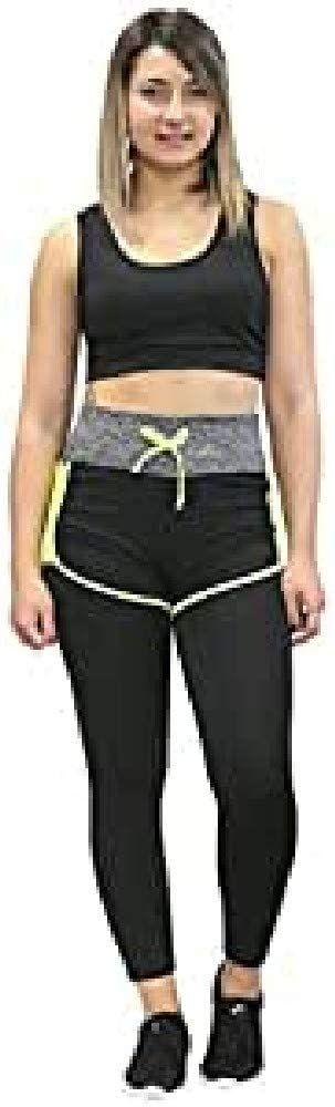 Softee Spodnie damskie czarny Black/Yellow XL