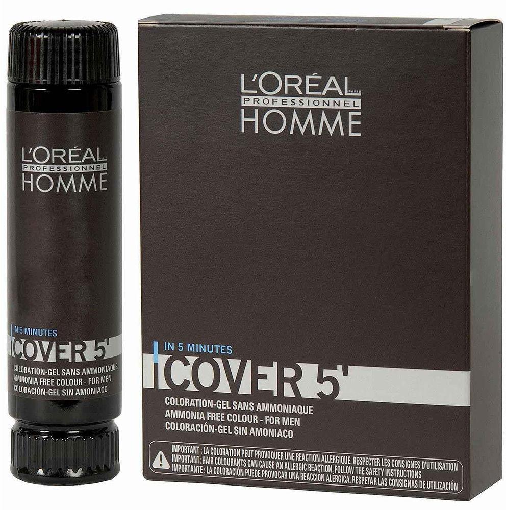 Loreal Homme Cover 5 farba, odsiwiacz, żel do koloryzacji włosów dla mężczyzn 50ml