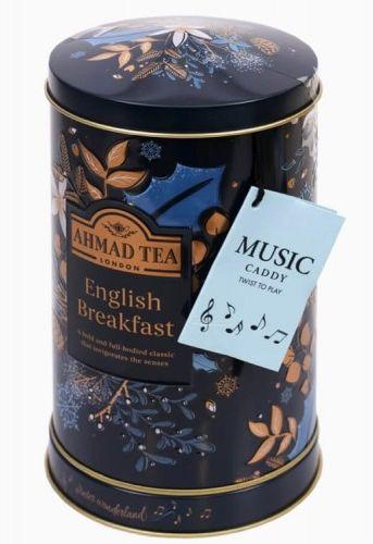 Świąteczna herbata Ahmad Tea English Breakfast Music Caddy 80g w puszce z melodyjką