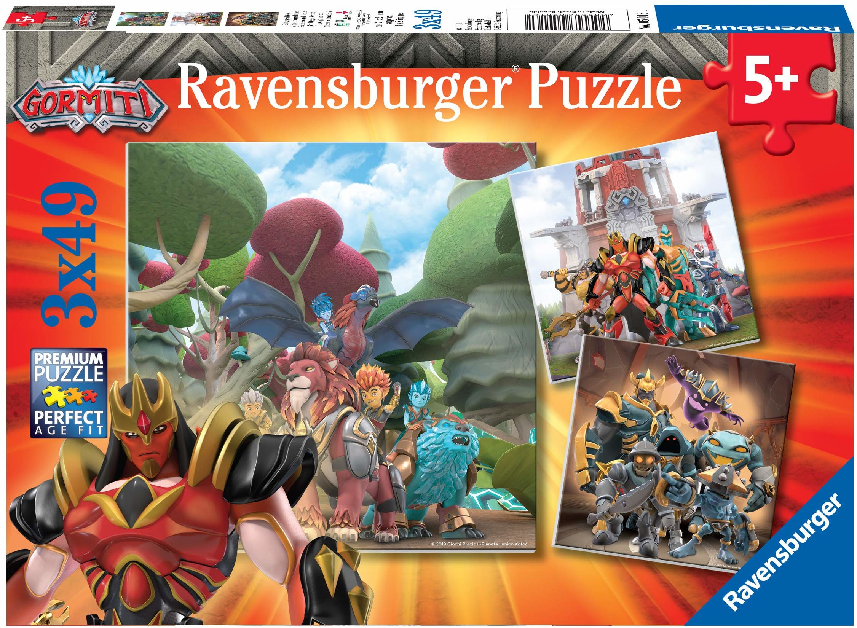 Ravensburger 5016 Puzzle Gormiti, wielokolorowe, 3 x 49 Pezzi