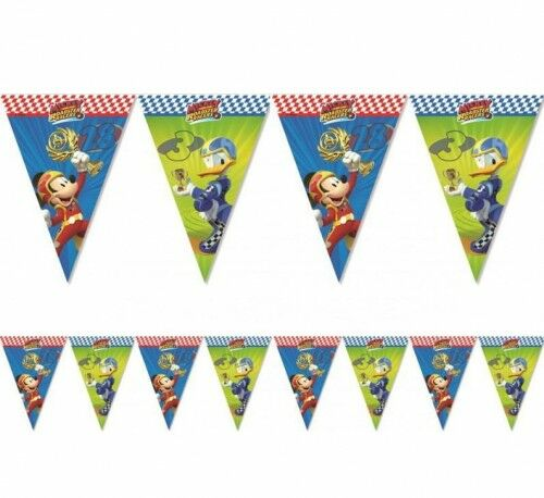 """Baner z flag """"Mickey Mouse Roadster Racers"""""""
