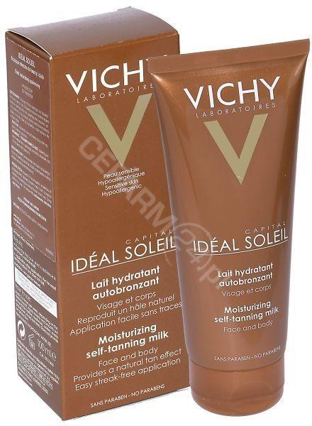 Vichy Idéal Soleil Capital nawilżające mleczko samoopalające do twarzy i ciała 100 ml