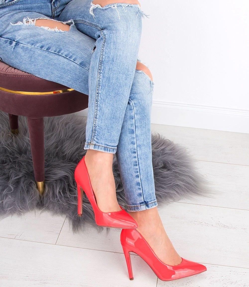 Czółenka damskie Ideal Shoes A-2927-2 Różowe