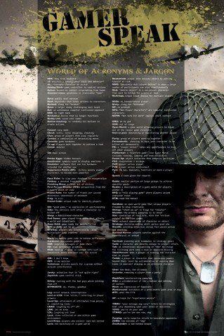 1art1 61740 Plakat dla graczy - Język leksykonu, w języku angielskim, 91 x 61 cm