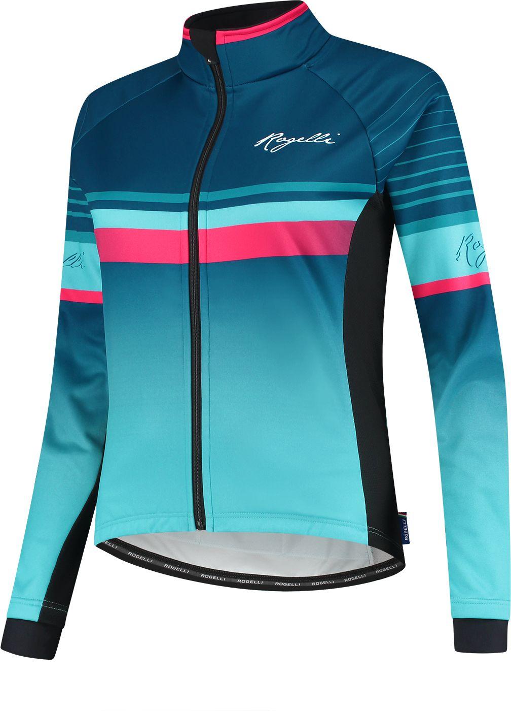 ROGELLI kurtka rowerowa zimowa damska IMPRESS niebiesko-różowa Rozmiar: L,010.360.XS