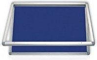 Gablota zewnętrzna 2x3 model 1 4xA4 naścienna wodoszczelna tekstylna 4xA4/53x70
