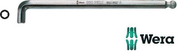 klucz imbusowy wydłużany z kulką i ekstra krótkim ramieniem, metryczny, 1,5mm, HEX-PLUS, Wera [05022040001]
