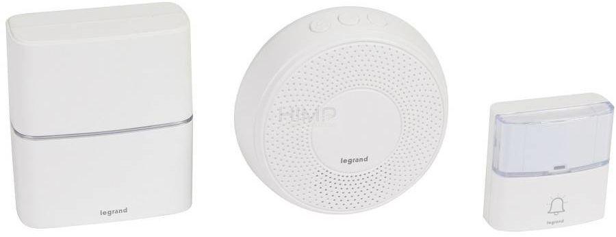 Dzwonek bezprzewodowy 200m Serenity biały (zestaw odbiornik + nadajnik + odbiornik Comfort) Legrand 094272