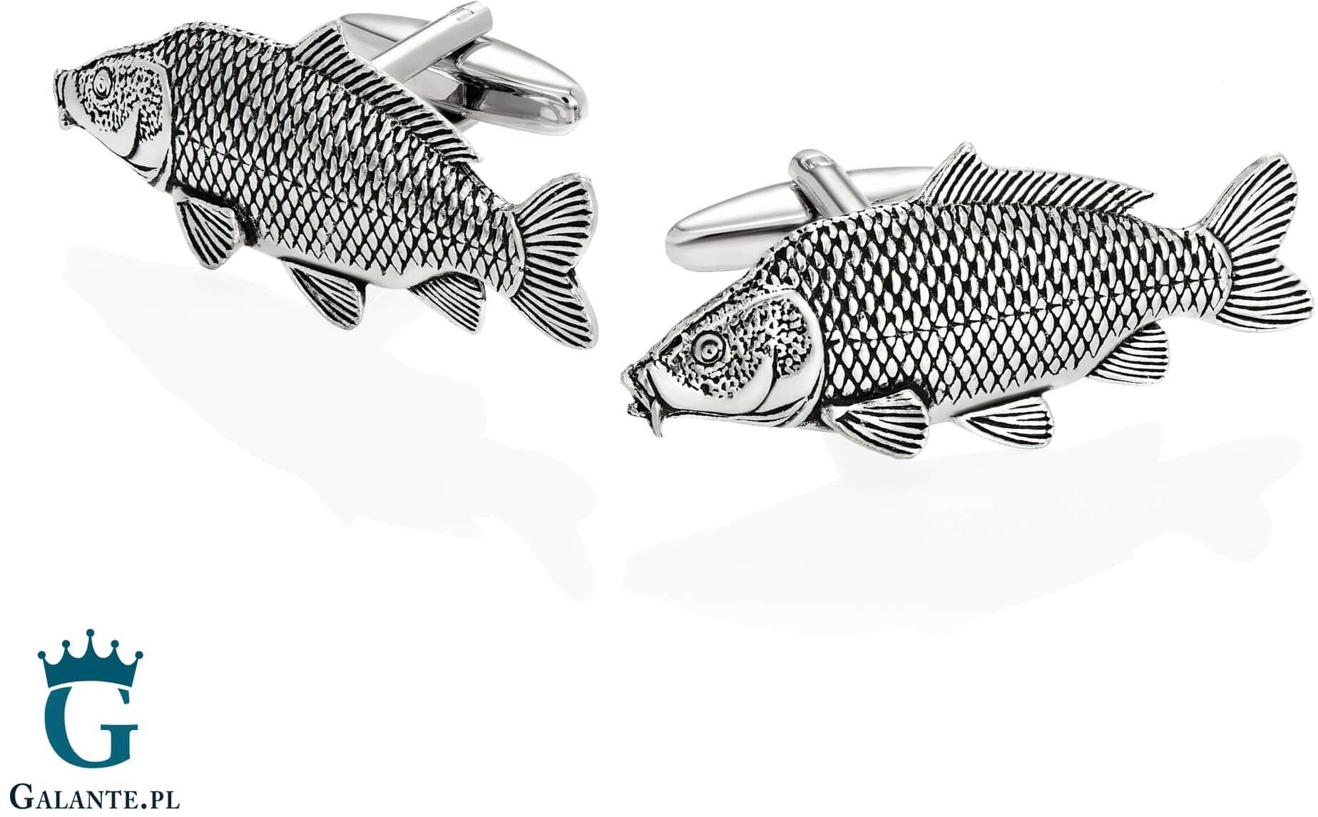 Spinki do mankietów x2 ryba karp