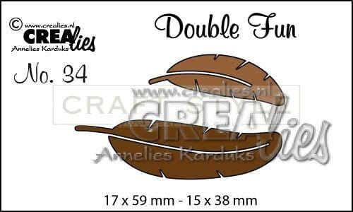 Wykrojnik CreaLies - Double Fun dies no. 34 Feathers
