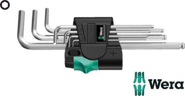 komplet 7szt. kluczy trzpieniowych do śrub imbusowych z kulką, metryczny, 1,5-6mm, HEX-PLUS, Wera [05022181001]