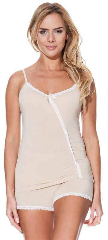 Damska bambusowa piżama FELISA Beżowy XL