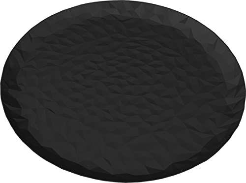 """Alessi """"Joy N.3 okrągła taca super czarna, stalowa,"""