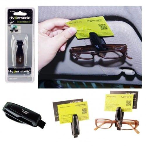Uchwyt klips na okulary karty bilety kwity