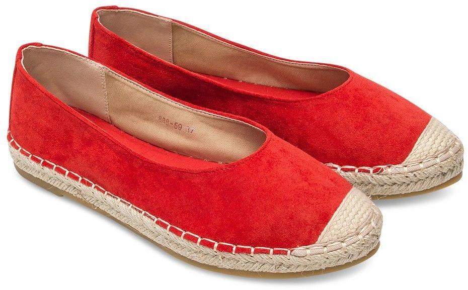 Espadryle damskie Sixth Sens 888-59 Czerwone