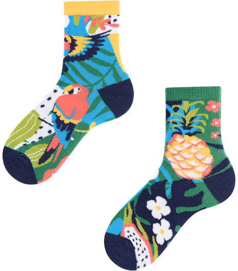 Papaya Kids, Todo Socks, Papuga, Ananas, Liczi, Kolorowe Skarpetki Dziecięce