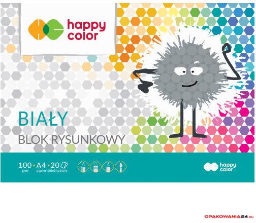 Blok rysunkowy HAPPY COLOR biały A4 20ark. HA 3710 2030-0