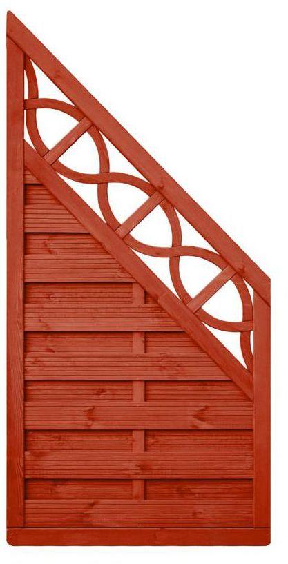 Płot skośny 90x180 cm drewniany WIEN WERTH-HOLZ