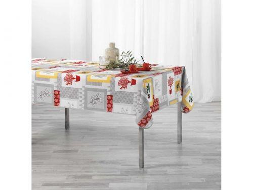 OBRUS PLAMOODPORNY - Graziella Yellowbrick Czerwony 150x240