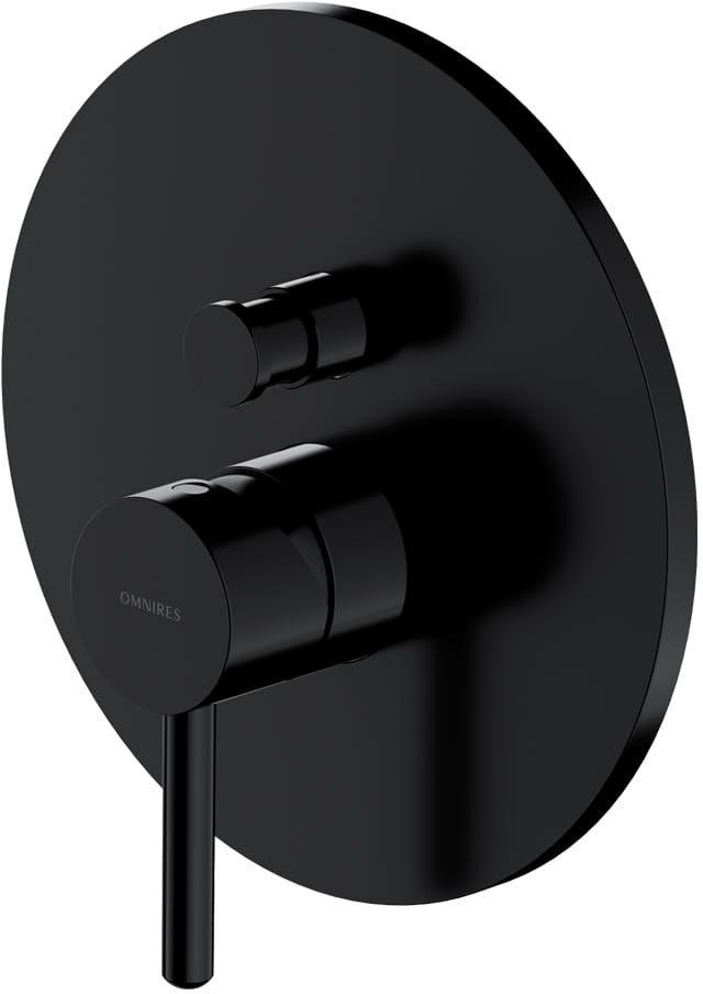 Omnires Bateria prysznicowo-wannowa podtynkowa Y, czarny Y1235BL