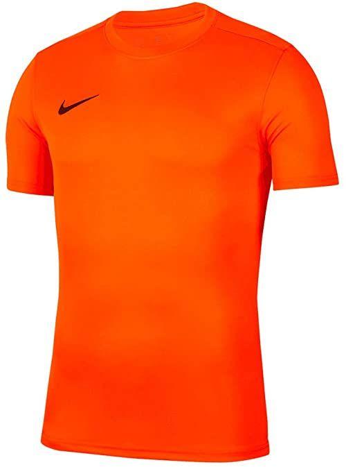 Nike Dry Park Vii koszulka męska pomarańczowa pomarańczowy/czarny (Safety Orange/Black) S