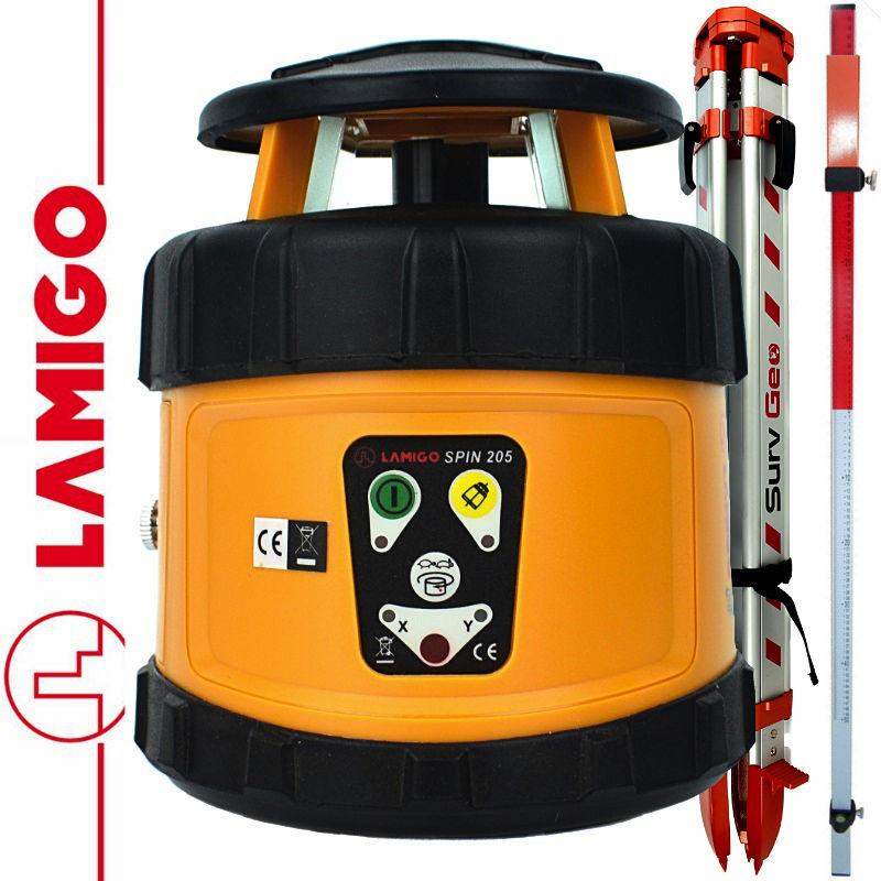 Niwelator laserowy SPIN 205 LAMIGO + Statyw aluminiowy 1,6m+ Łata laserowa 2,4m