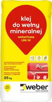 Klej do wełny mineralnej Weberbase Uni W Weber 25 kg
