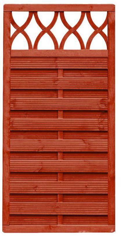 Płot szczelny z dekorem 90x180 cm drewniany WIEN WERTH-HOLZ