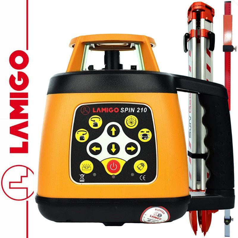 Niwelator laserowy SPIN 210 LAMIGO + Statyw aluminiowy 1,6m+ Łata laserowa 2,4m