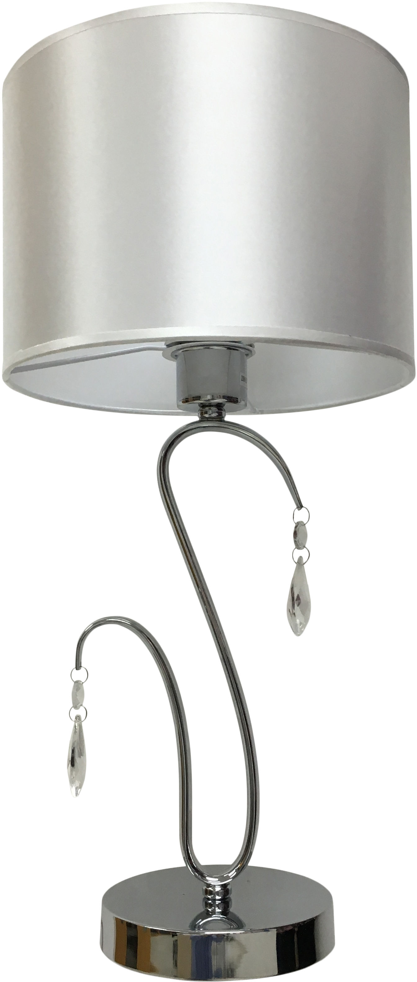 Candellux CARMEN 41-40602 lampa stołowa abażur 1X60W E27 chrom 26cm