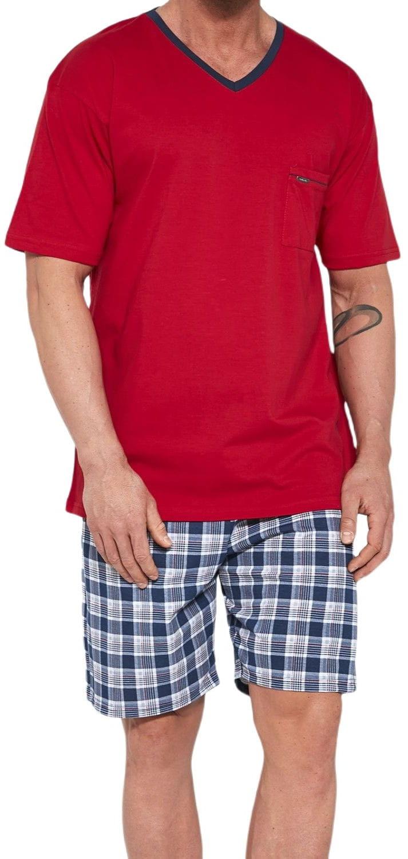 Bawełniana piżama męska Cornette 329/114 Tom czerwona