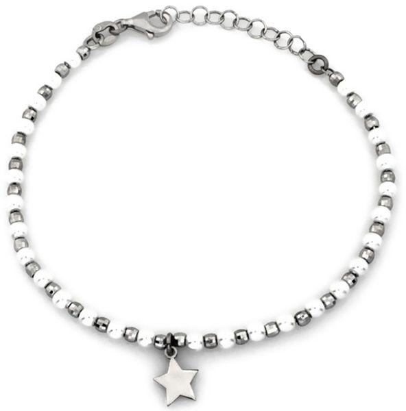 Srebrna bransoletka 925 z perełkami i gwiazdką 3,17 g
