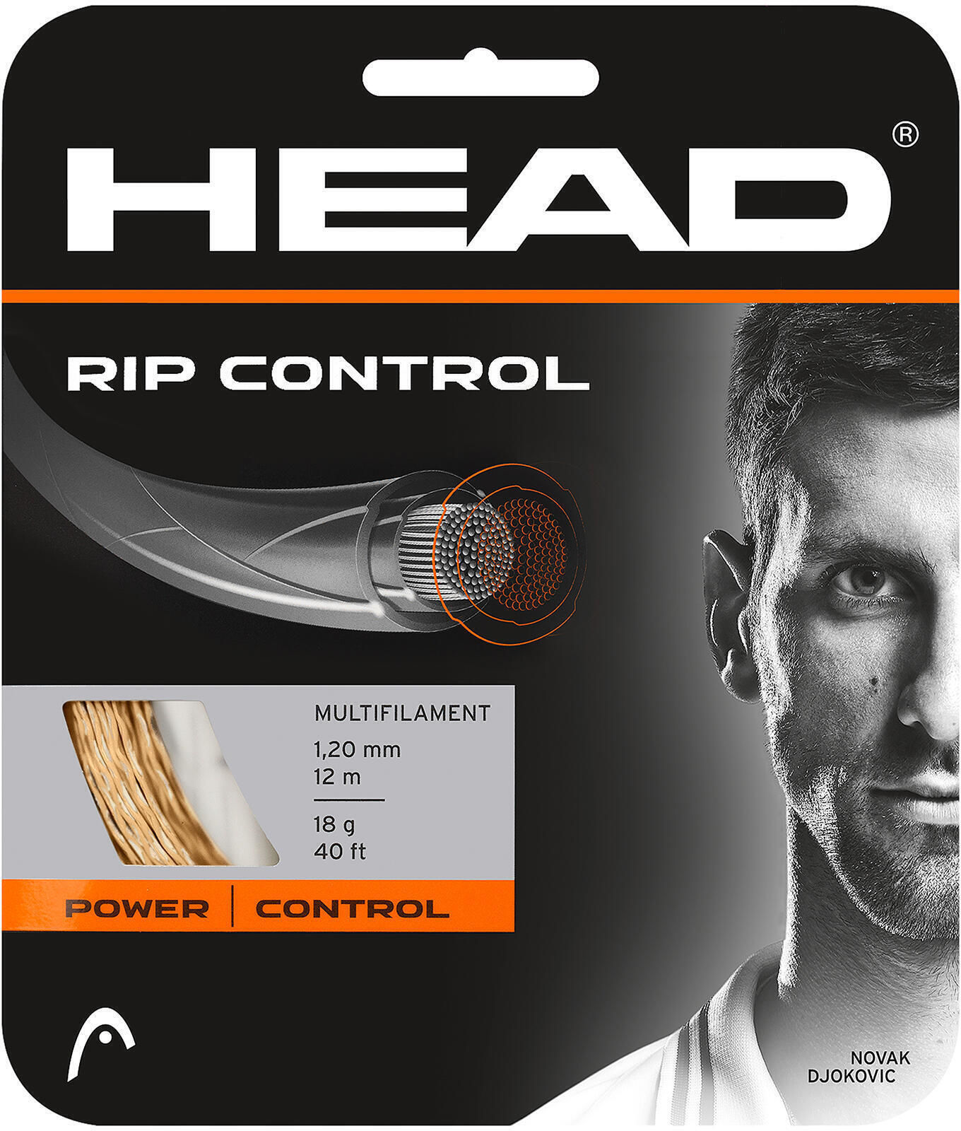 Naciąg tenisowy wielowłóknisty RIP CONTROL 1,30 MM